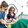 Dr Inder Doing Candella Treatment