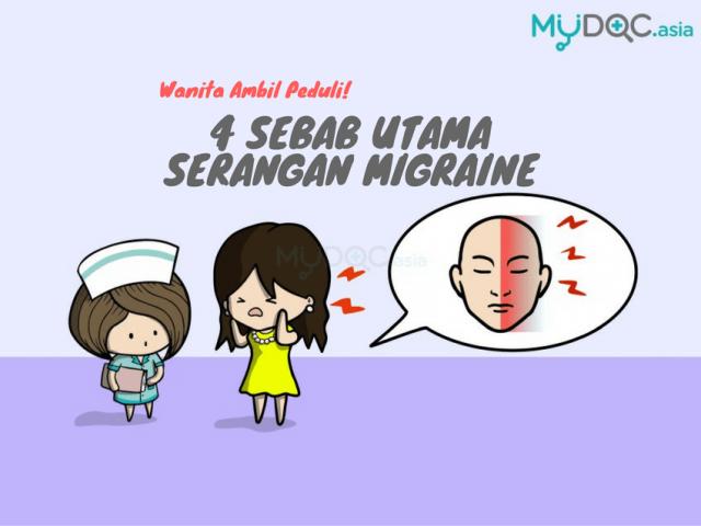 4 Penyebab Utama Migraine Pada Wanita Yang Harus Anda Sadar