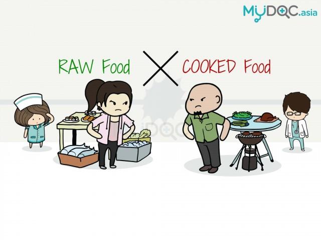 Makanan Mentah atau Makanan Masak?