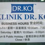 Dr Ko Clinic (Kuala Selangor) - Business Hour