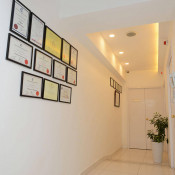 Smart International Aesthetic Clinic - Walkway with Certificates
