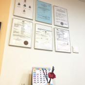 Teh Orthodontics - clinic certificates